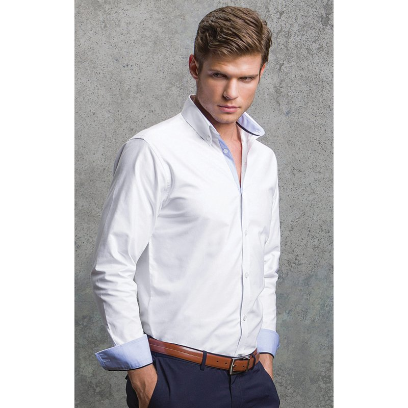 Gents Long sleeve Oxford shirt